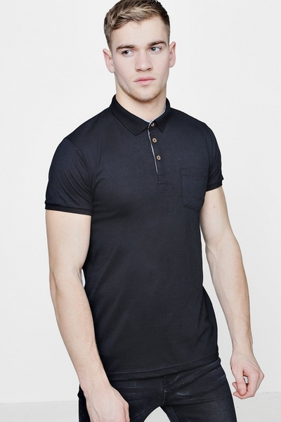 Black Grey Polo