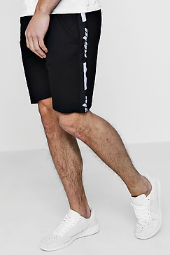 Black Lined Shorts