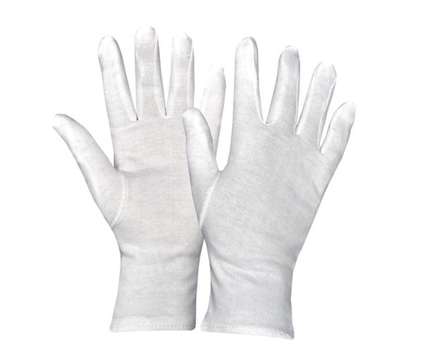 Interlock white Fourchette Gloves