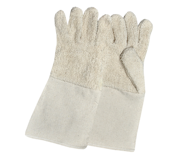 Terry Cotton Gloves With Canvas Cuff