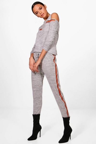 Grey with Orange Stripes