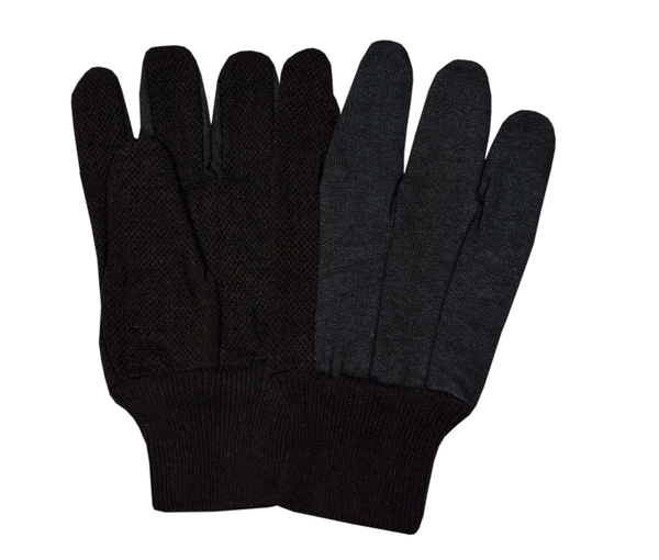 Jersey Brown Gloves With PVC Dots