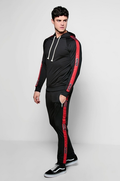 Mens Black Red