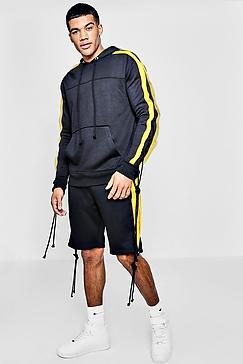 Dark Grey with Yellow Stripes
